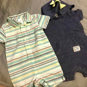 2 for $5, 2 baby boy summer romper